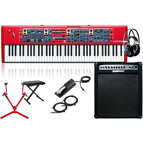 Nord Stage 2 HA76 76-Key with Keyboard Amplifier, Matching Stand, Headphones, Bench, and Sustain Pedal-thumbnail