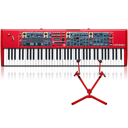 Nord Stage 2 HA76 with Matching 2-Tier Keyboard Stand