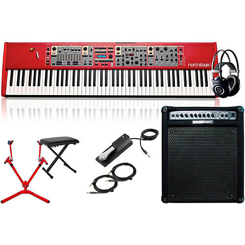 Nord Stage 2 HA88 88-Key with Keyboard Amplifier, Matching Stand, Headphones, Bench, and Sustain Pedal