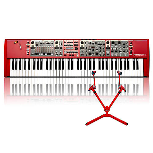 Nord Stage 2 SW73 with Matching 2-Tier Keyboard Stand