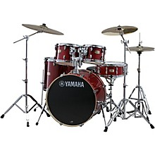 "Yamaha Stage Custom Birch 5-Piece Shell Pack with 22"" Bass Drum Cranberry Red"