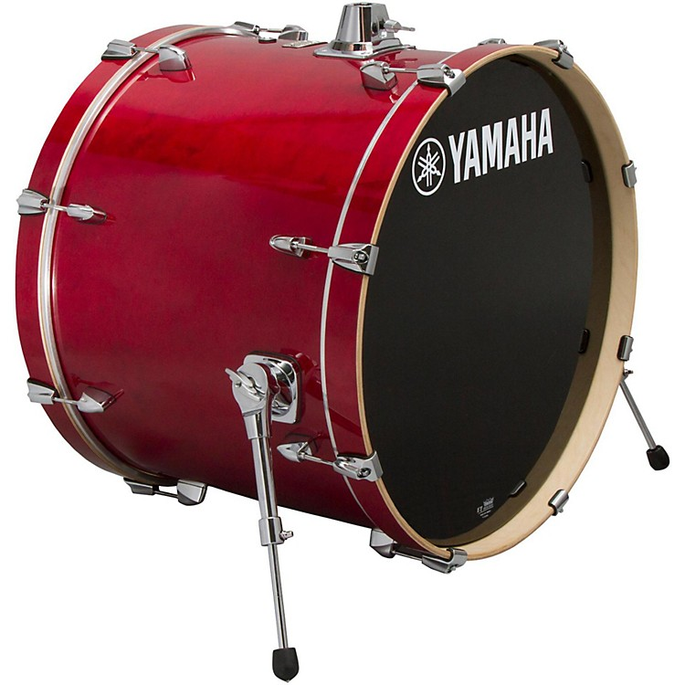yamaha stage custom birch bass drum 18x15 inch cranberry