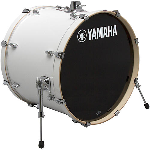 yamaha stage custom birch bass drum 24 x 15 in pure white musician 39 s friend. Black Bedroom Furniture Sets. Home Design Ideas
