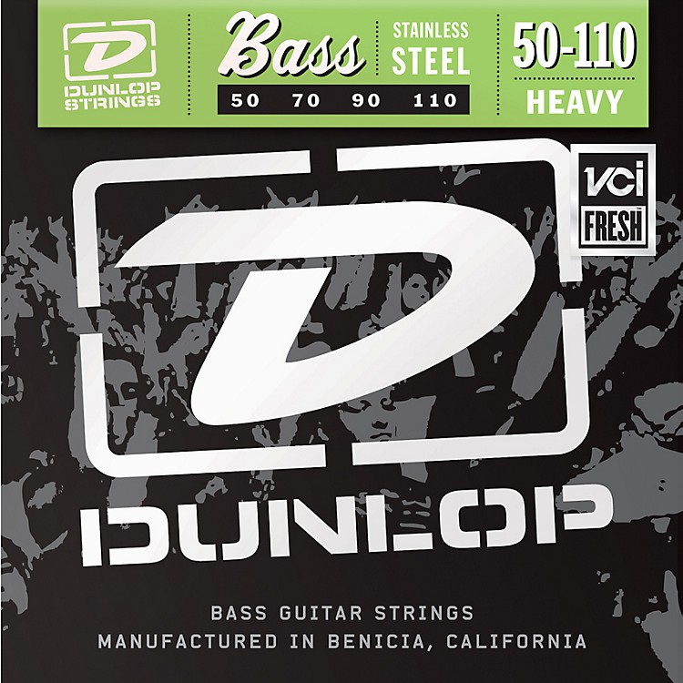 Dunlop Stainless Steel Bass Strings - Heavy