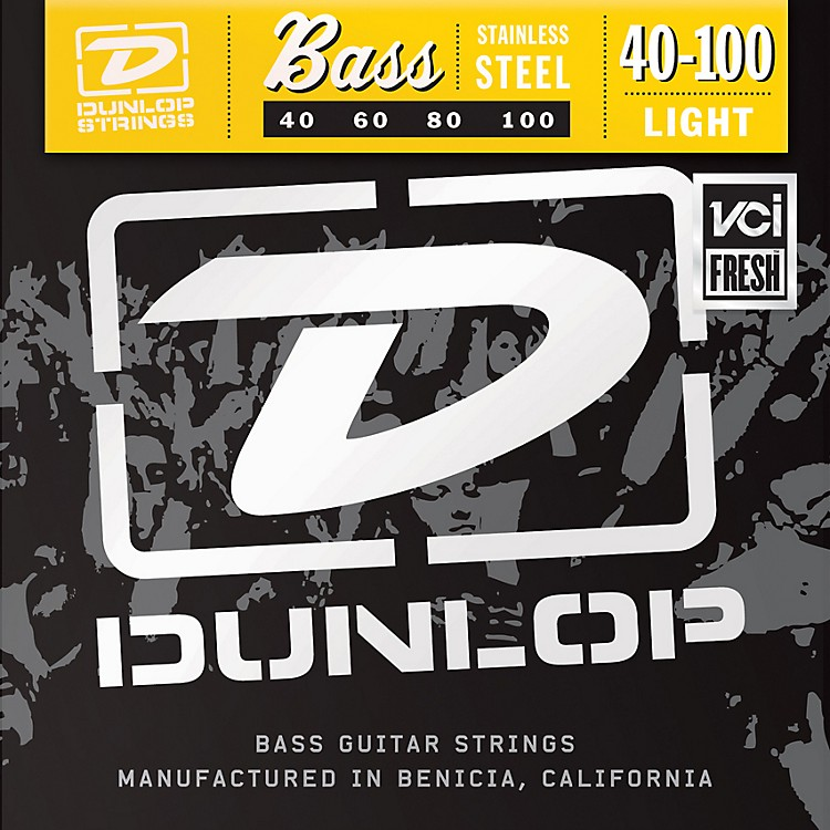 Dunlop Stainless Steel Light Bass Strings