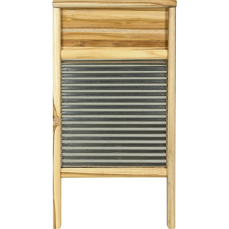 Columbus Washboard Stainless Washboard Teak 12-7/16x23-3/4 Inches