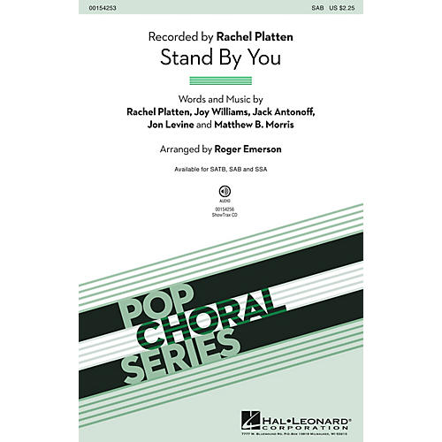 Hal Leonard Stand By You SAB by Rachel Platten arranged by Roger Emerson