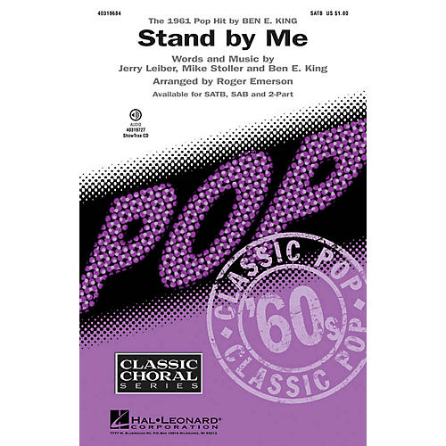 Hal Leonard Stand by Me SATB arranged by Roger Emerson