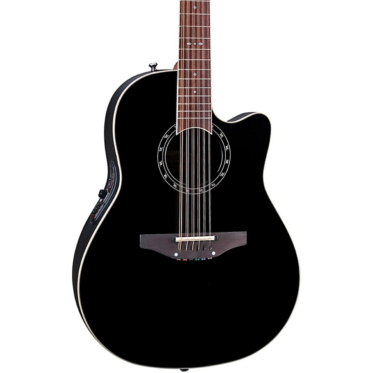 Ovation Standard Balladeer 2751 AX 12-String Acoustic-Electric Guitar Black