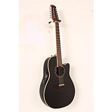 Ovation Standard Balladeer 2751 AX 12-String Acoustic-Electric Guitar Level 2 Black 888366044858