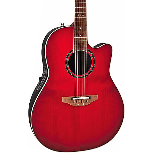 Ovation Standard Balladeer 2771 AX Acoustic-Electric Guitar Cherry Cherry Burst