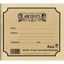 Archives Standard Bound Manuscript Paper 6 Staves 24 Sheets