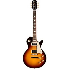 Gibson Custom Standard Historic 1958 Les Paul Plaintop Reissue Gloss Electric Guitar Faded Tobacco