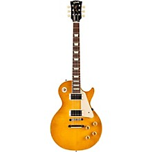 Gibson Custom Standard Historic 1958 Les Paul Plaintop Reissue Gloss Electric Guitar Lemon Burst