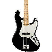 Fender Standard Jazz Bass Guitar Black Gloss Maple Fretboard