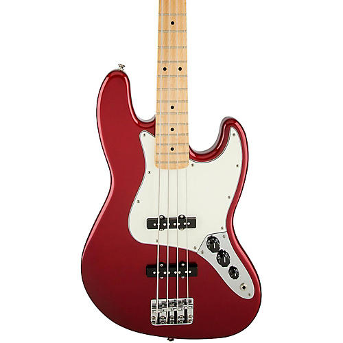 Fender Standard Jazz Bass Guitar Candy Apple Red Gloss Maple Fretboard
