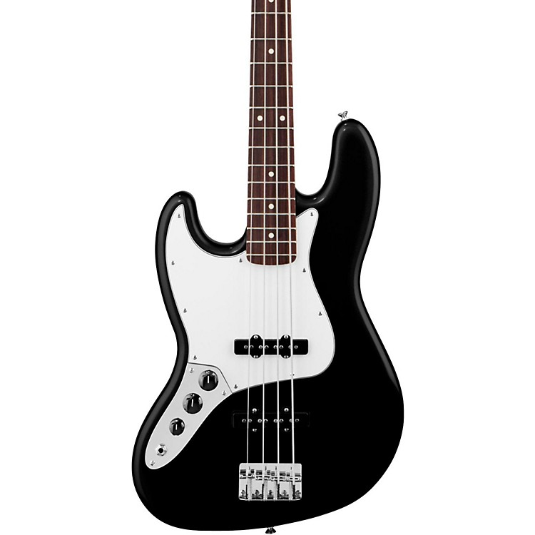 Fender Standard Left-Handed Jazz Bass Guitar with Rosewood Fretboard Black Rosewood Fretboard