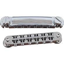 TonePros Standard Locking Tune-o-matic/Tailpiece Set (small posts/notched saddles) Chrome