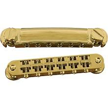 TonePros Standard Locking Tune-o-matic/Tailpiece Set (small posts/notched saddles) Gold