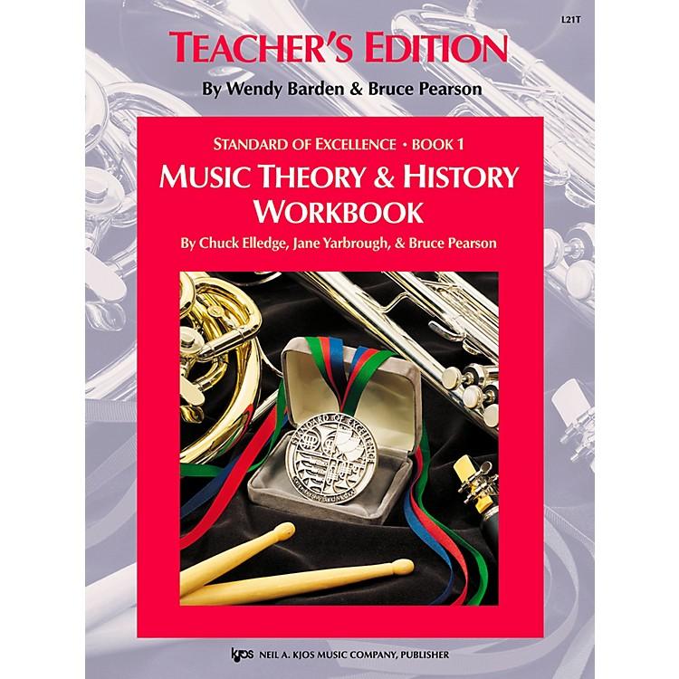 KJOSStandard Of Excellence BK 1,MSC THRY/HISTORY WB-TEACHER