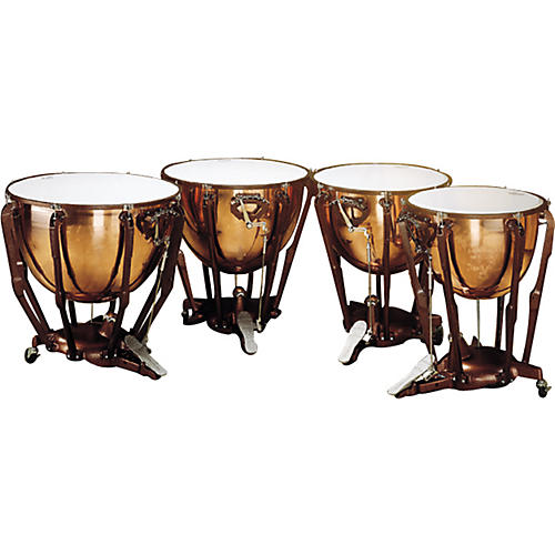 Ludwig Standard Series Polished Timpani Set Of 4 Concert Drums-thumbnail