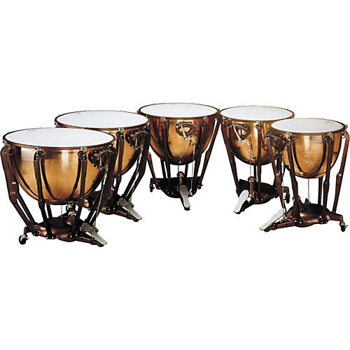 Ludwig Standard Series Polished Timpani Set Of 5 Concert Drums