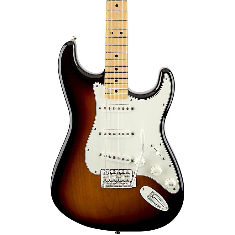 Fender Standard Stratocaster Electric Guitar with Maple Fretboard Arctic White Gloss Maple Fretboard