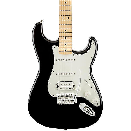 Fender Standard Stratocaster HSS Electric Guitar Black Gloss Maple Fretboard