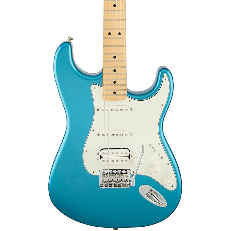 FenderStandard Stratocaster HSS Electric GuitarCandy Apple RedGloss Maple Fretboard