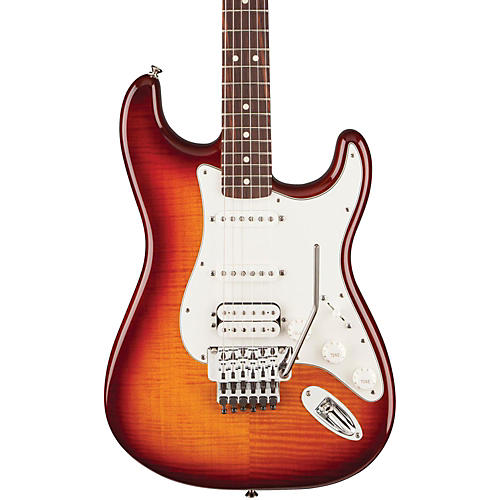 Fender Standard Stratocaster HSS Plus Top with Locking Tremolo, Rosewood Fingerboard Tobacco Sunburst Rosewood Fingerboard