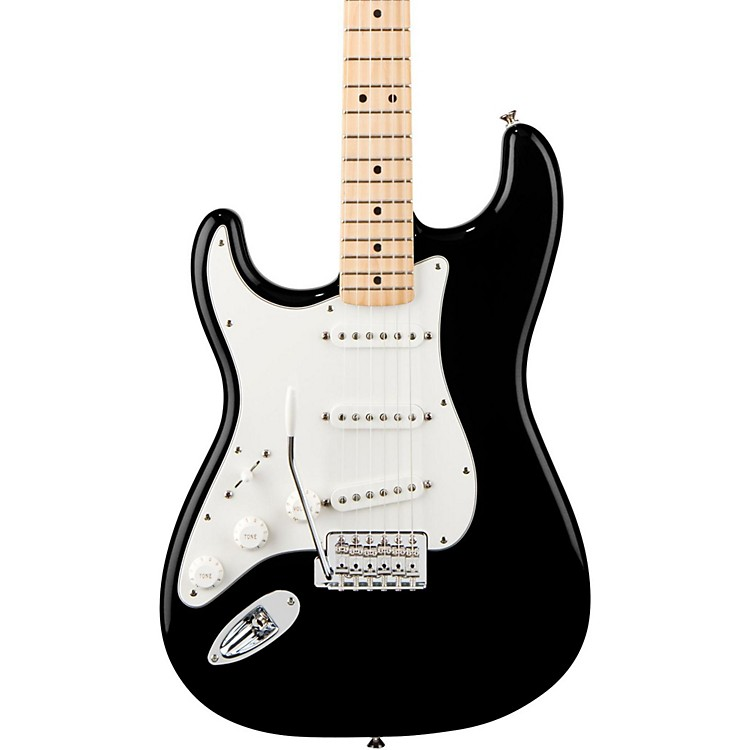 Fender Standard Stratocaster Left Handed  Electric Guitar Black Gloss Maple Fretboard