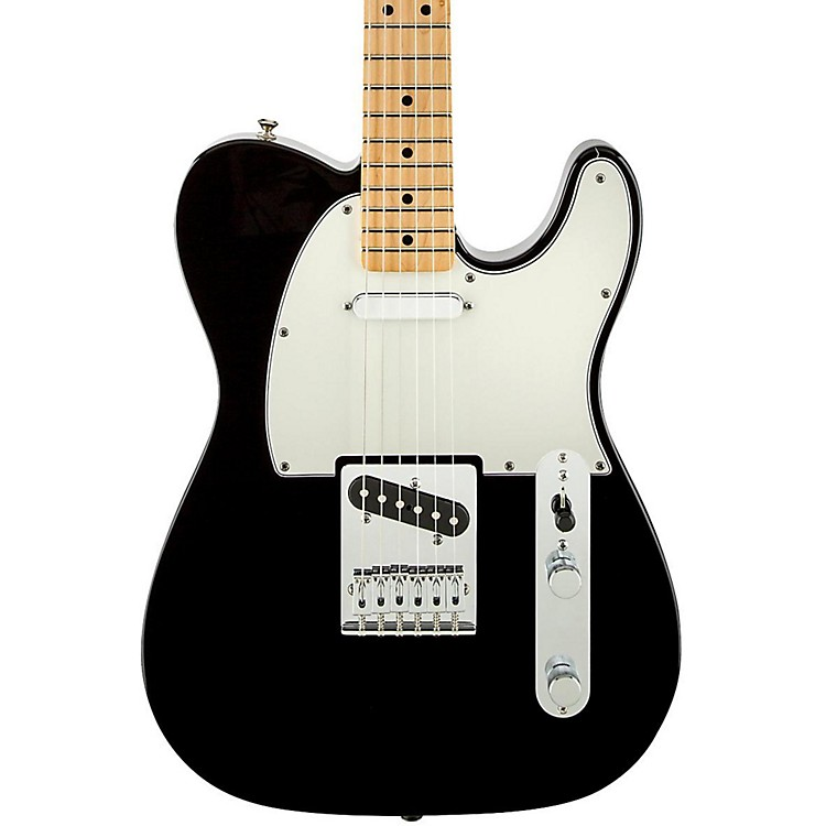 FenderStandard Telecaster Electric GuitarBlackGloss Maple Fretboard