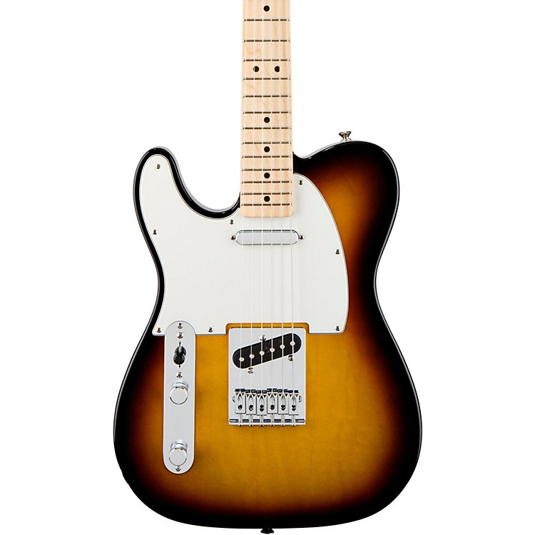 Fender Standard Telecaster Left Handed  Electric Guitar Brown Sunburst Gloss Maple Fretboard