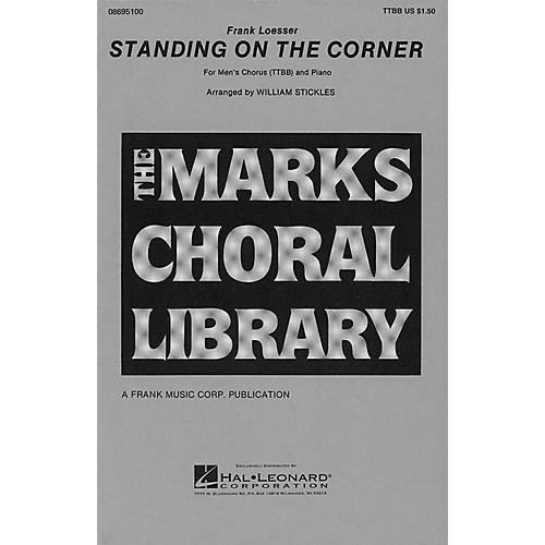 Hal Leonard Standing on the Corner TTBB arranged by William Stickles-thumbnail