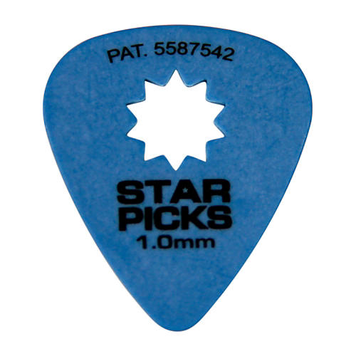 Everly Star Grip Guitar Picks (50 Picks) 1.0 mm Blue
