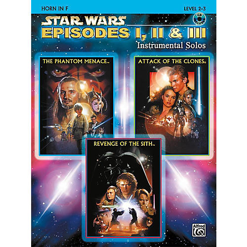 Alfred Star Wars: Episodes I, II & III Instrumental Solos Horn in F Book & CD