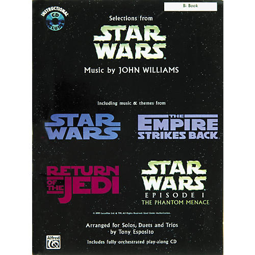 Alfred Star Wars Selections B-Flat Instrument Book & CD
