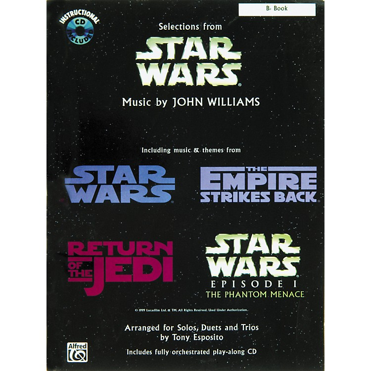 AlfredStar Wars Selections B-Flat Instrument Book & CD