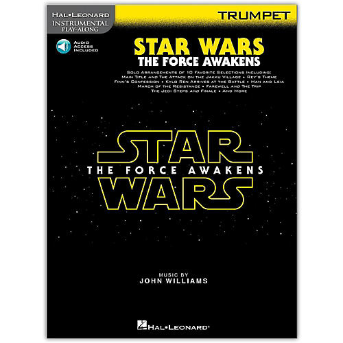 Hal Leonard Star Wars: The Force Awakens - Trumpet Instrumental Play-Along,  Book with Online Audio-thumbnail