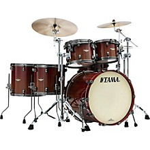 Tama Starclassic Bubinga Exotix Tigerwood 5-Piece Shell Pack with Smoked Black Nickel Hardware