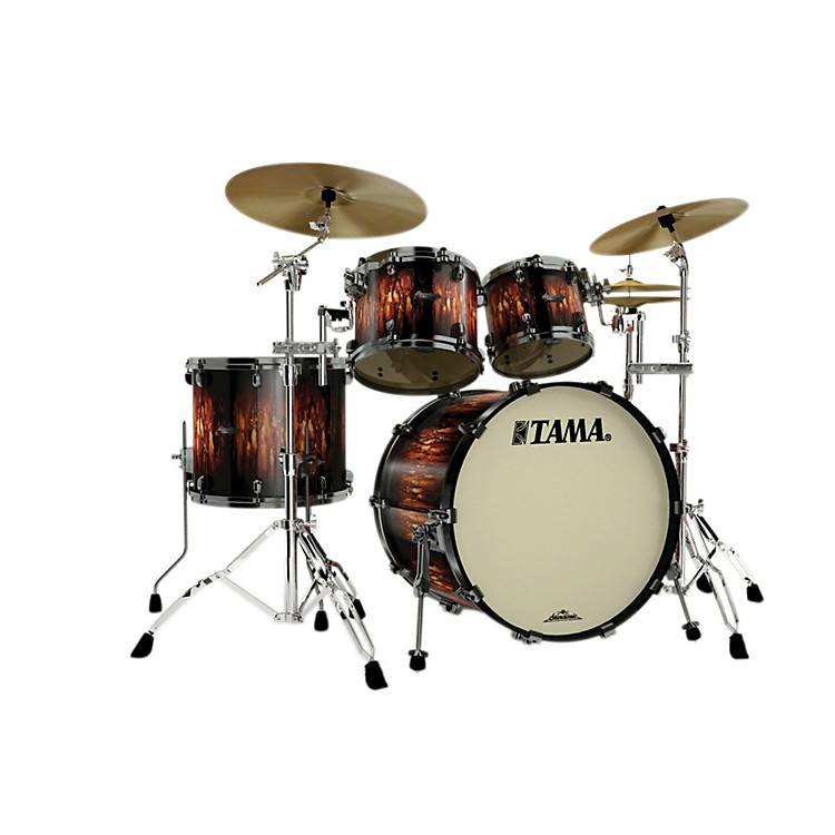 Tama Starclassic Maple 4-Piece Shell Pack Molten Satin Brown Burst