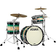 """Tama Starclassic Maple Exotix Pacific Walnut 3-Piece Shell Pack with Smoked Black Nickel Hardware and 20"""" Bass Drum"""