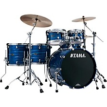 Tama Starclassic Performer B/B 5-Piece Hyper-Drive Shell Pack Lacquer Ocean Blue Ripple