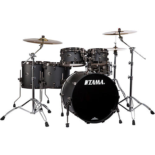 Tama Starclassic Performer B/B Limited Edition 5-Piece Hyper-Drive Shell Pack Flat Black with Black Nickel Hardware