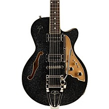 Starplayer TV Semi-Hollow Electric Guitar Black Sparkle