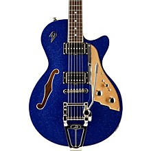 Starplayer TV Semi-Hollow Electric Guitar Blue Sparkle