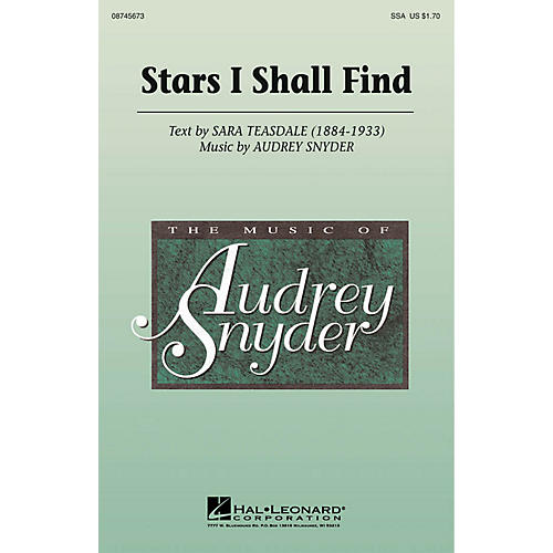 Hal Leonard Stars I Shall Find SSA composed by Audrey Snyder-thumbnail