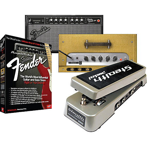 IK Multimedia StealthPedal Audio Interface/Controller + AmpliTube Fender Amp & Effects Software Suite-thumbnail