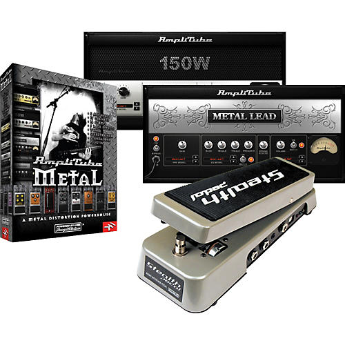 IK Multimedia StealthPedal Audio Interface/Controller + AmpliTube Metal Amp and Stompbox Modeling Software