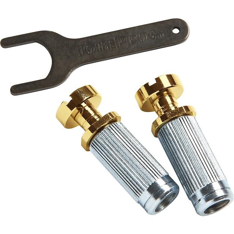 ToneProsSteel Vintage Locking Studs with U.S. ThreadGold
